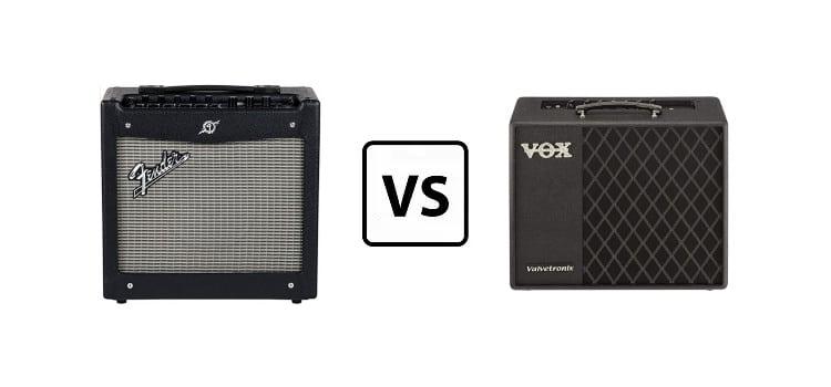 vox vt40+ vs fender mustang ii